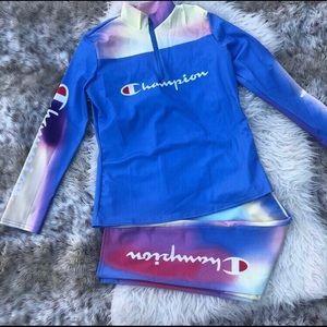 Champion jogger suit jacket joggers
